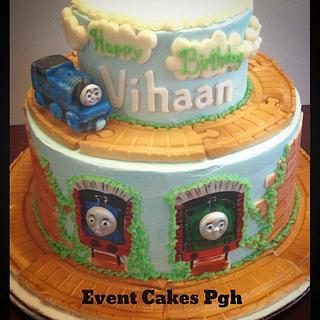 Thomas the Tank Cake - Cake by Cakesburgh (Brandi Hugar)