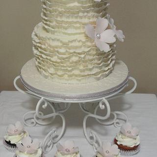 My first Ruffle Cake