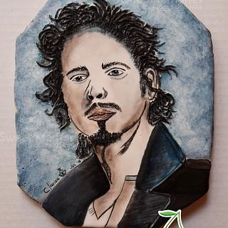 Gone Too Soon - Chris Cornell decorated cookie
