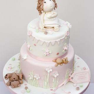 Baby Cara's Christening Cake