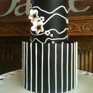 Black and White Wedding Cake - Cake by Carla Jo
