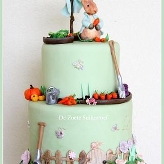 Rabbit cake for a little boy
