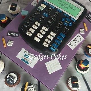 Scientific calculator cake & cuppies