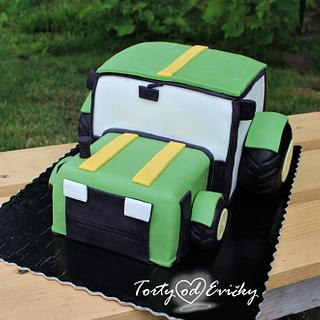 Tractor - Cake by Cakes by Evička