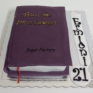 Book cake for lawyer