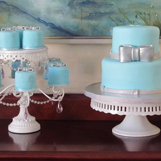 Tiffany Blue Cake & Mini Cakes for a Debut Party