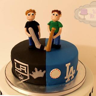 Rivals birthday cake - Cake by Sarah F