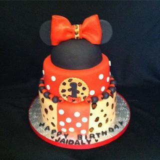 Minnie Mouse Leopard Print Cake