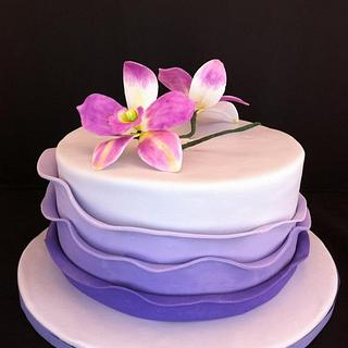 Purple Ruffle Cake - Cake by memphiscopswife