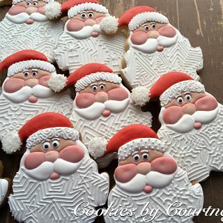Santa cookies with beard detail