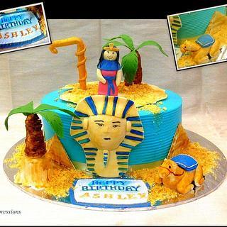 Egyptian theme cake