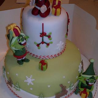 """Naughty Elf"" Christmas-cake - Cake by AWG Hobby Cakes"