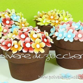Tutorial cupcake flower pot