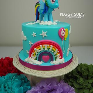 Rainbow Dash Cake - Cake by PeggySuesCC