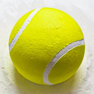 Whipped Cream Tennis Ball Cake