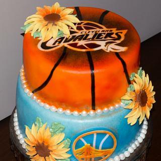 Basketball Themed Wedding Cake