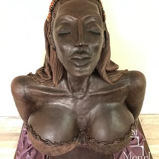 Chocolate girl in real size - Cake by Mina Avramova