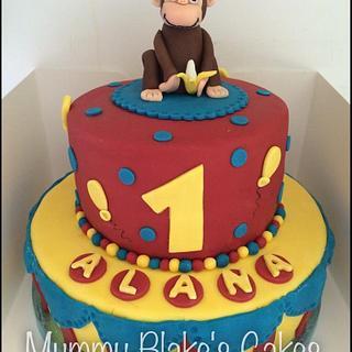 Curious George - Cake by Mummyblakescakes