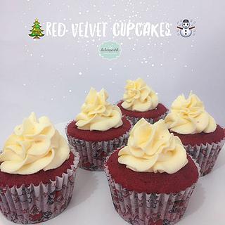 Cupcakes Navideños Red Velvet - Cake by Dulcepastel.com