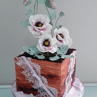 Poppies for my birthday  - Cake by Bistra Dean
