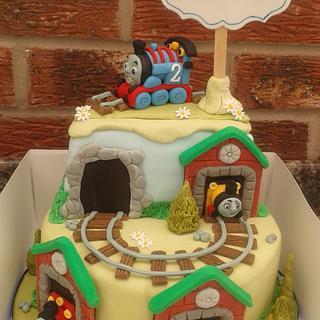 Thomas the tank engine cake - Cake by Karen's Kakery