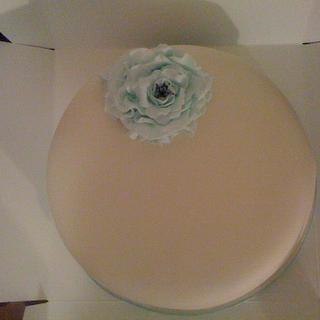 Single Tier Simple design Wedding Cake