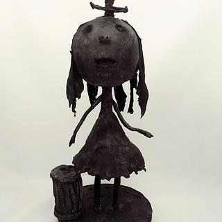 Tim Burton's Junk Girl cake