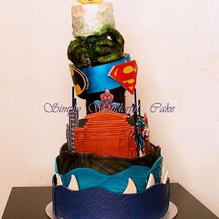 Little David's superhero cake