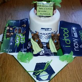 """""""Russell Baby"""" Seahawks Cake"""