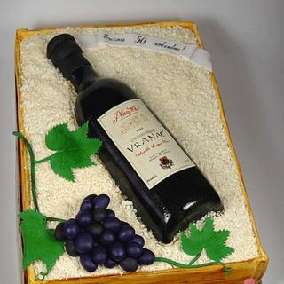 Wine bottle - Cake by Ivana