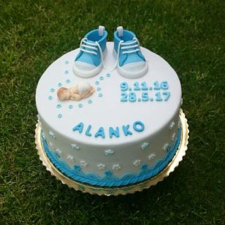 Christening cake for boy