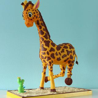 Do not fright little giraffe.  - Cake by Wendy Schlagwein
