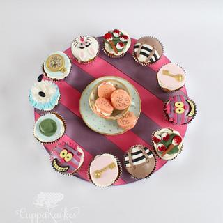 Alice in Wonderland Cupcake Platter - Cake by Kaylu