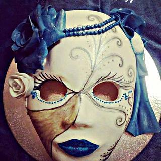 Mask in Venetian style