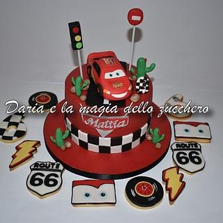 Cars cake and cookies