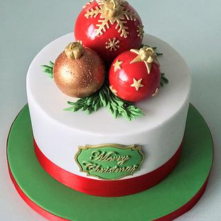 Bauble Christmas Cake