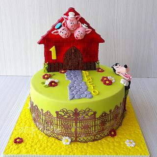 The Three Little Pigs cake - Cake by simplyblue