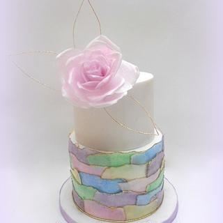 Pink Rose - Cake by Nessie - The Cake Witch