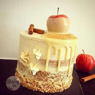 Apple cinnamon drip cake