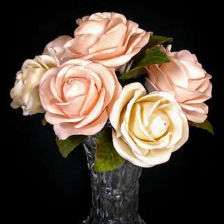 Gumpaste roses bouqet