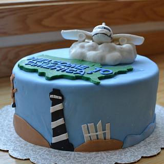 Farewell Plane Cake - Cake by CrystalMemories