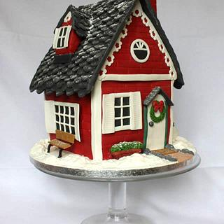 Christmas Cake - Welcome to our house!