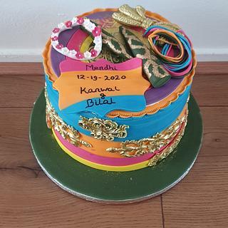 Collourfull henna cake  - Cake by Cake Rotterdam