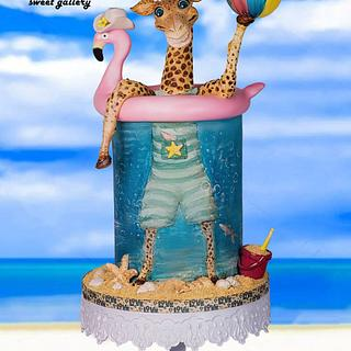 Giraffe on holidays - Cake by Othonas Chatzidakis