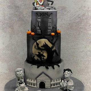 Tim Burton Themed 21st Cake