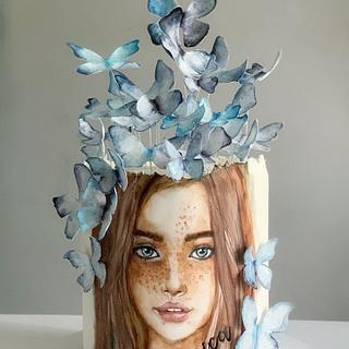 Butterflies girl - Cake by Dsweetcakery
