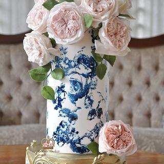Vintage Sugar Flower Vase