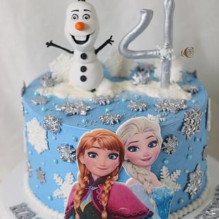Frozen  - Cake by CandiRosa