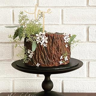 Tree Stump Cake