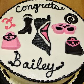 Fashion cake for graduation